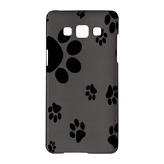 Dog Foodprint Paw Prints Seamless Background And Pattern Samsung Galaxy A5 Hardshell Case  by BangZart
