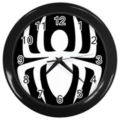 White Spider Wall Clocks (black)