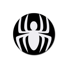 White Spider Rubber Coaster (round)  by BangZart