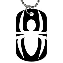 White Spider Dog Tag (two Sides) by BangZart