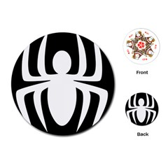 White Spider Playing Cards (round)