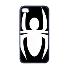 White Spider Apple Iphone 4 Case (black) by BangZart