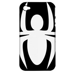 White Spider Apple Iphone 4/4s Hardshell Case (pc+silicone)