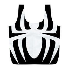 White Spider Full Print Recycle Bags (l)  by BangZart