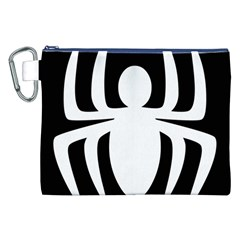White Spider Canvas Cosmetic Bag (xxl) by BangZart