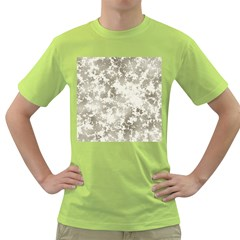 Wall Rock Pattern Structure Dirty Green T Shirt