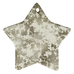 Wall Rock Pattern Structure Dirty Star Ornament (two Sides) by BangZart