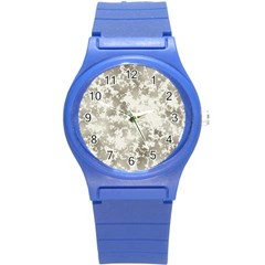 Wall Rock Pattern Structure Dirty Round Plastic Sport Watch (s) by BangZart