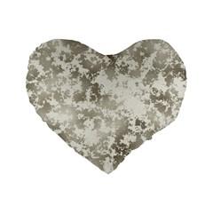 Wall Rock Pattern Structure Dirty Standard 16  Premium Flano Heart Shape Cushions