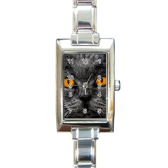 Cat Eyes Background Image Hypnosis Rectangle Italian Charm Watch