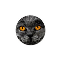 Cat Eyes Background Image Hypnosis Golf Ball Marker by BangZart
