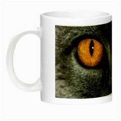 Cat Eyes Background Image Hypnosis Night Luminous Mugs by BangZart
