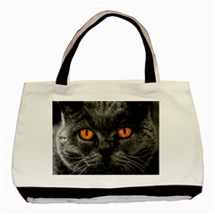 Cat Eyes Background Image Hypnosis Basic Tote Bag by BangZart