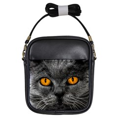 Cat Eyes Background Image Hypnosis Girls Sling Bags by BangZart