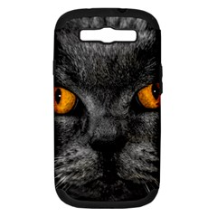 Cat Eyes Background Image Hypnosis Samsung Galaxy S Iii Hardshell Case (pc+silicone) by BangZart
