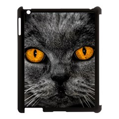 Cat Eyes Background Image Hypnosis Apple Ipad 3/4 Case (black) by BangZart
