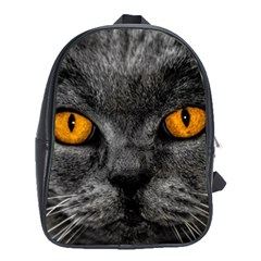 Cat Eyes Background Image Hypnosis School Bags (xl)  by BangZart