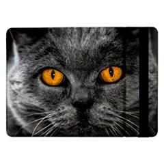 Cat Eyes Background Image Hypnosis Samsung Galaxy Tab Pro 12 2  Flip Case by BangZart