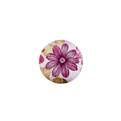 Flower Print Fabric Pattern Texture 1  Mini Magnets by BangZart
