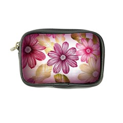 Flower Print Fabric Pattern Texture Coin Purse by BangZart