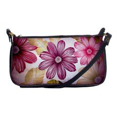 Flower Print Fabric Pattern Texture Shoulder Clutch Bags by BangZart