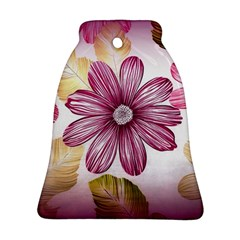 Flower Print Fabric Pattern Texture Bell Ornament (two Sides)