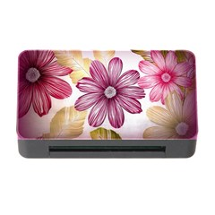 Flower Print Fabric Pattern Texture Memory Card Reader With Cf by BangZart