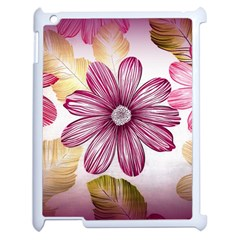 Flower Print Fabric Pattern Texture Apple Ipad 2 Case (white) by BangZart