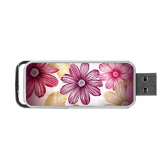 Flower Print Fabric Pattern Texture Portable Usb Flash (one Side) by BangZart
