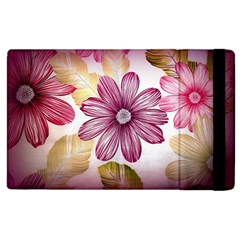 Flower Print Fabric Pattern Texture Apple Ipad 2 Flip Case by BangZart