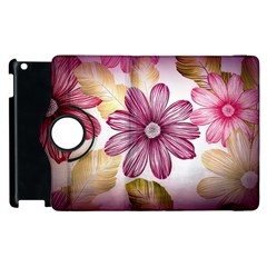 Flower Print Fabric Pattern Texture Apple Ipad 3/4 Flip 360 Case by BangZart