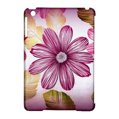 Flower Print Fabric Pattern Texture Apple Ipad Mini Hardshell Case (compatible With Smart Cover) by BangZart