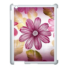 Flower Print Fabric Pattern Texture Apple Ipad 3/4 Case (white) by BangZart