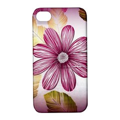 Flower Print Fabric Pattern Texture Apple Iphone 4/4s Hardshell Case With Stand by BangZart