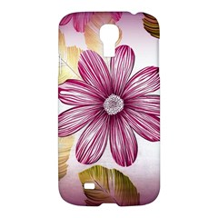 Flower Print Fabric Pattern Texture Samsung Galaxy S4 I9500/i9505 Hardshell Case