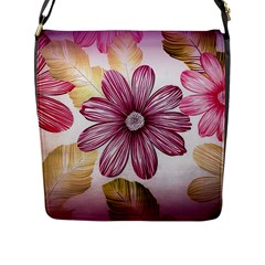 Flower Print Fabric Pattern Texture Flap Messenger Bag (l)  by BangZart