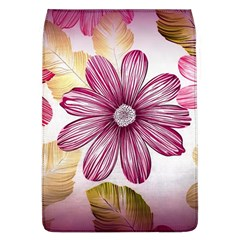 Flower Print Fabric Pattern Texture Flap Covers (l)