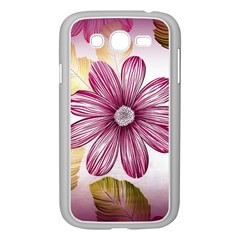 Flower Print Fabric Pattern Texture Samsung Galaxy Grand Duos I9082 Case (white) by BangZart