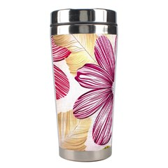 Flower Print Fabric Pattern Texture Stainless Steel Travel Tumblers by BangZart
