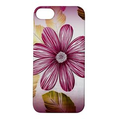 Flower Print Fabric Pattern Texture Apple Iphone 5s/ Se Hardshell Case by BangZart