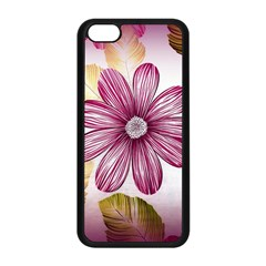 Flower Print Fabric Pattern Texture Apple Iphone 5c Seamless Case (black) by BangZart
