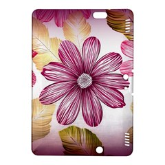 Flower Print Fabric Pattern Texture Kindle Fire Hdx 8 9  Hardshell Case by BangZart