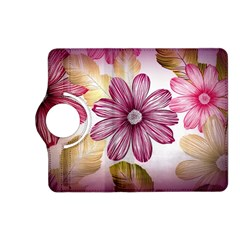 Flower Print Fabric Pattern Texture Kindle Fire Hd (2013) Flip 360 Case by BangZart