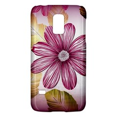 Flower Print Fabric Pattern Texture Galaxy S5 Mini by BangZart