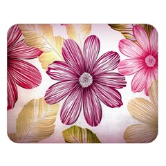 Flower Print Fabric Pattern Texture Double Sided Flano Blanket (large)  by BangZart