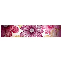 Flower Print Fabric Pattern Texture Flano Scarf (small)