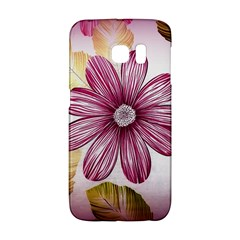 Flower Print Fabric Pattern Texture Galaxy S6 Edge