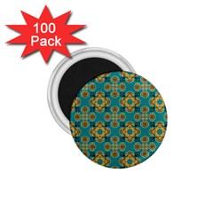 Vintage Pattern Unique Elegant 1 75  Magnets (100 Pack)