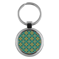 Vintage Pattern Unique Elegant Key Chains (round)
