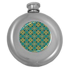 Vintage Pattern Unique Elegant Round Hip Flask (5 Oz) by BangZart